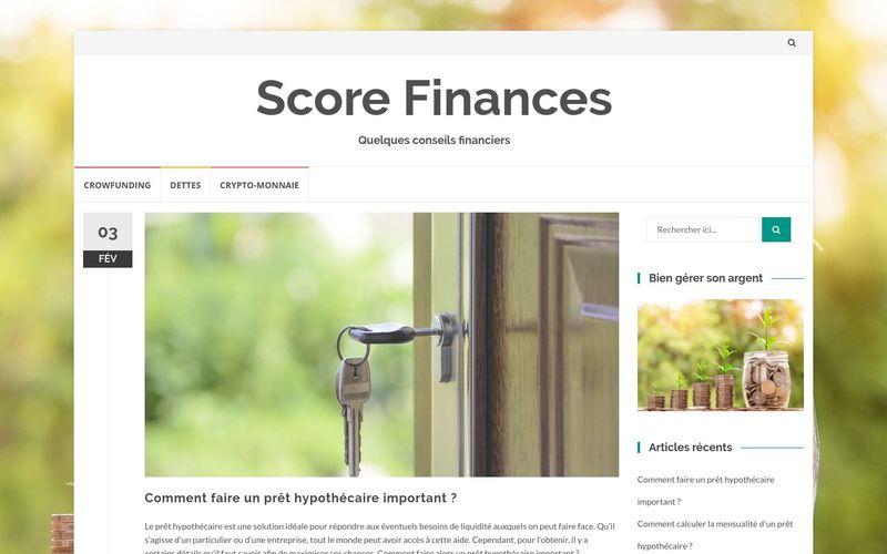 Score Finances - Quelques conseils financiers