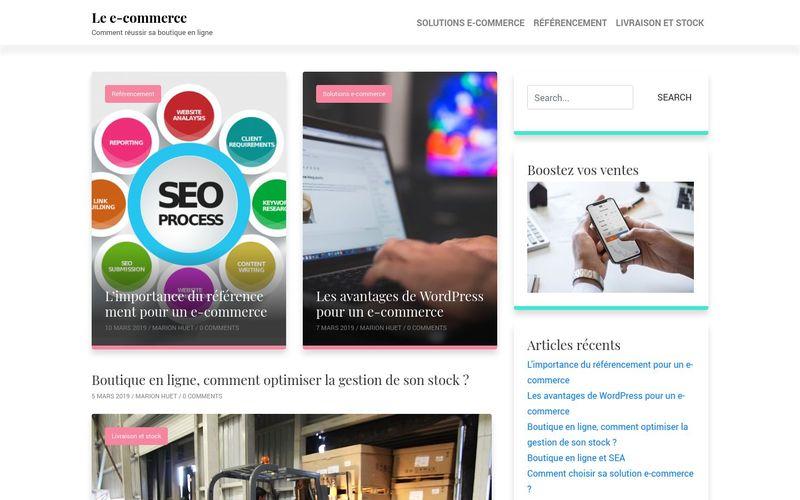 Le e-commerce - Comment réussir sa boutique en ligne